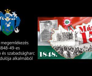 Ünnepi megemlékezés az 1848-49-es forradalom és szabadságharc 173. évfordulóján