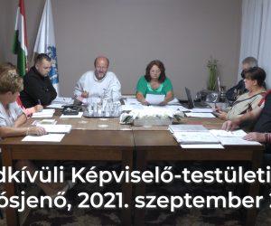 Rendkívüli Képviselő-testületi ülés 2021. szeptember 22-én