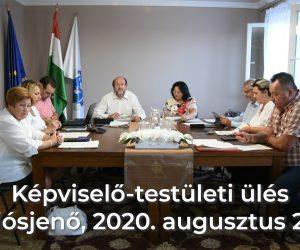 Képviselő-testületi ülés 2020. 08. 27.