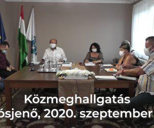 Közmeghallgatás 2020. szeptember 17.